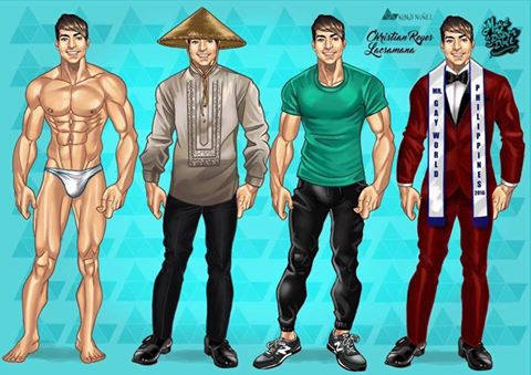 will be wearing these attires at Mr. Gay World 2016 competition in Malta.