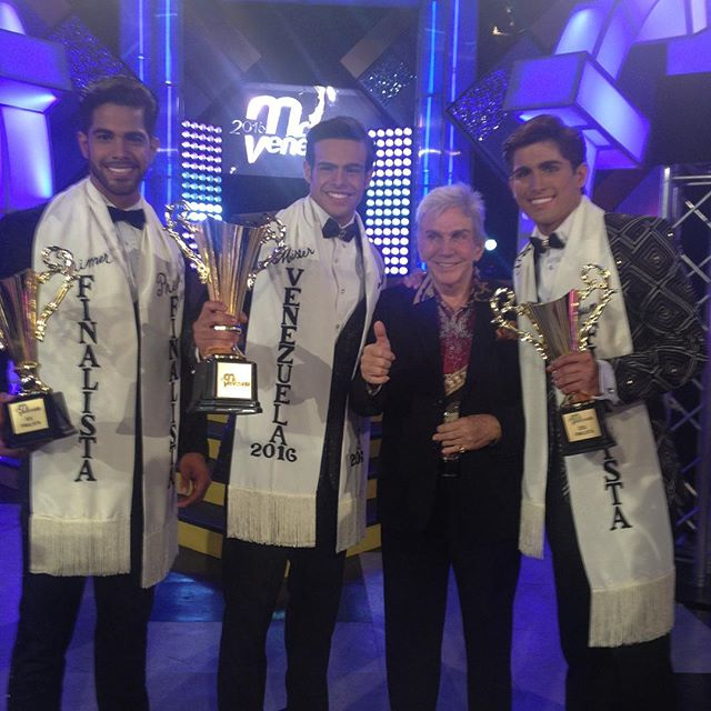 The Mister Venezuela 2016‬ winners with the Czar of Beauty Osmel Sousa.