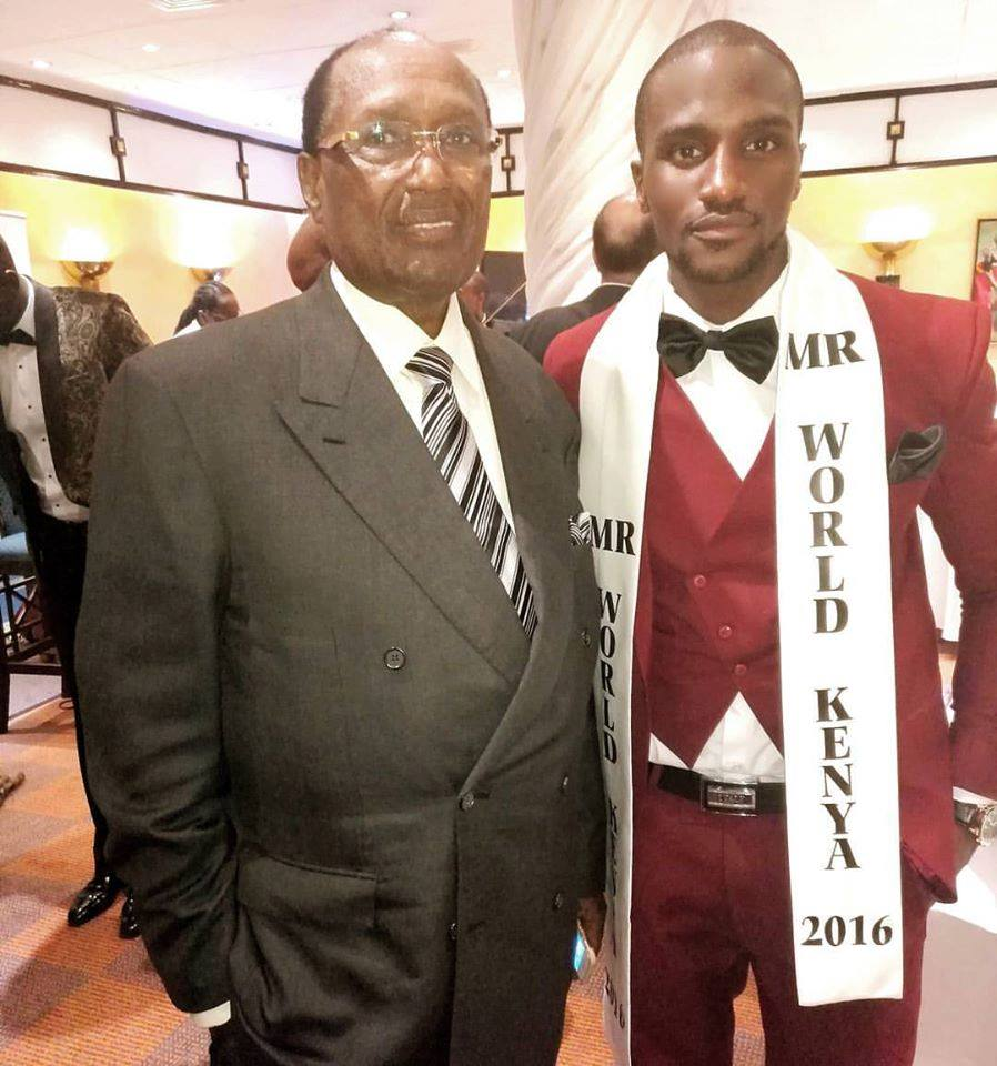 Kevin Owiti with renowned self-made business mogul and tycoon Chris Kirubi.