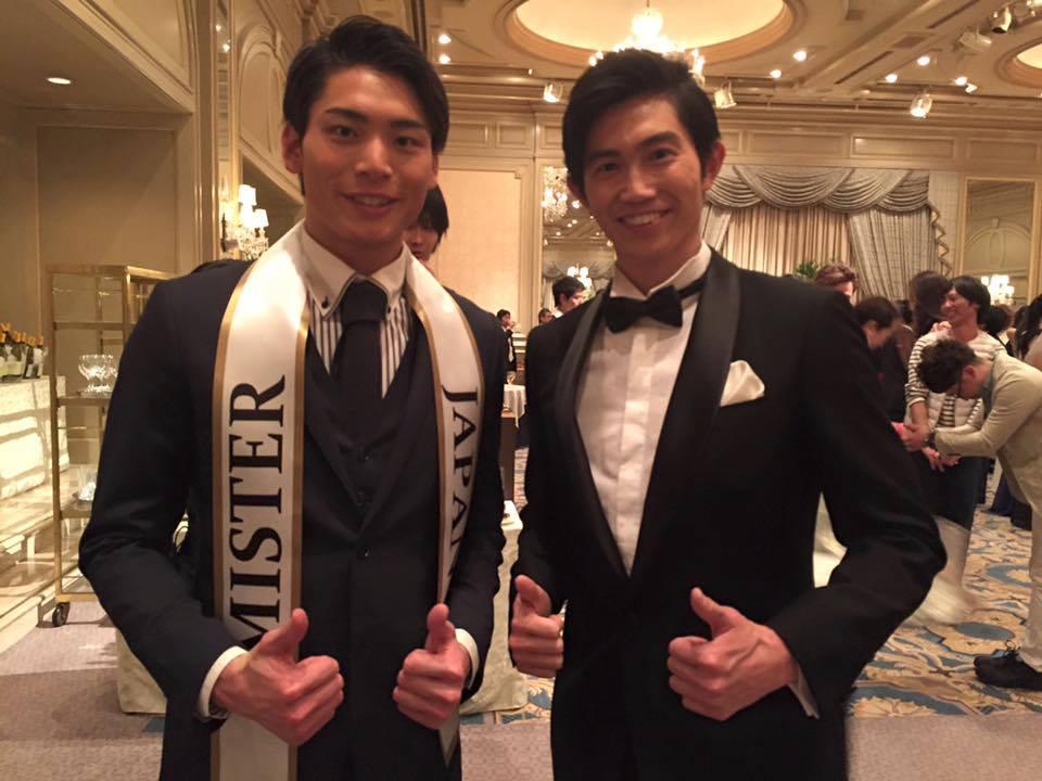 Masaya Yamagishi and Mister Japan 2015 Junpei Watanabe