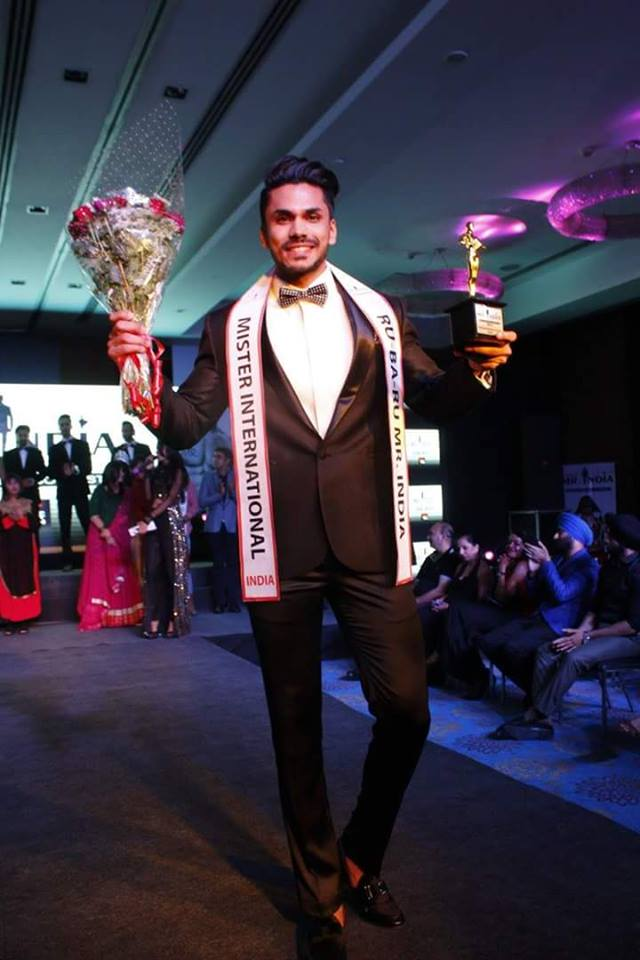 Mudit Malhotra after winning the Rubaru Mister India 2016 pageant held at Anya Hotel in Gurugram.