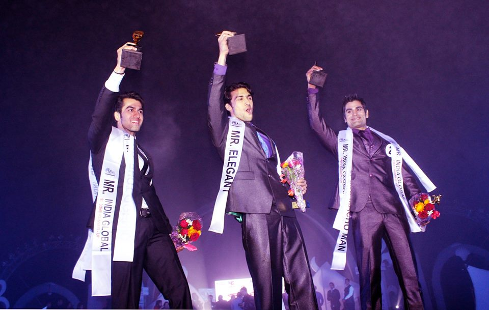 Pratik Virk after winning the title of Rubaru Mister India.