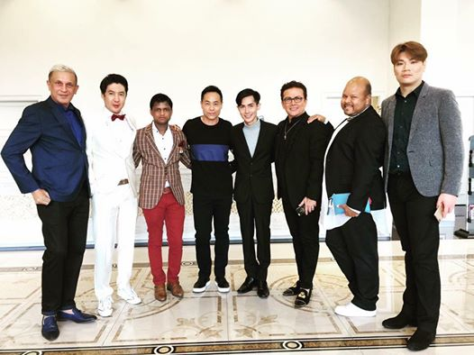 Sandeep Kumar with the owner of Mister International Organization and national directors of Sri Lanka, Korea, Hong Kong, Venezuela, the Netherlands and China. (L-R) Brian from Sri Lanka, Jung-Hoon from Korea, Sandeep from India (ME), Frederick from Hong Kong, Alan Sim from Singapore (Owner of Mister International organisation), Raenrra from Venezuela, Lyron from the Netherlands; and Adam from China.