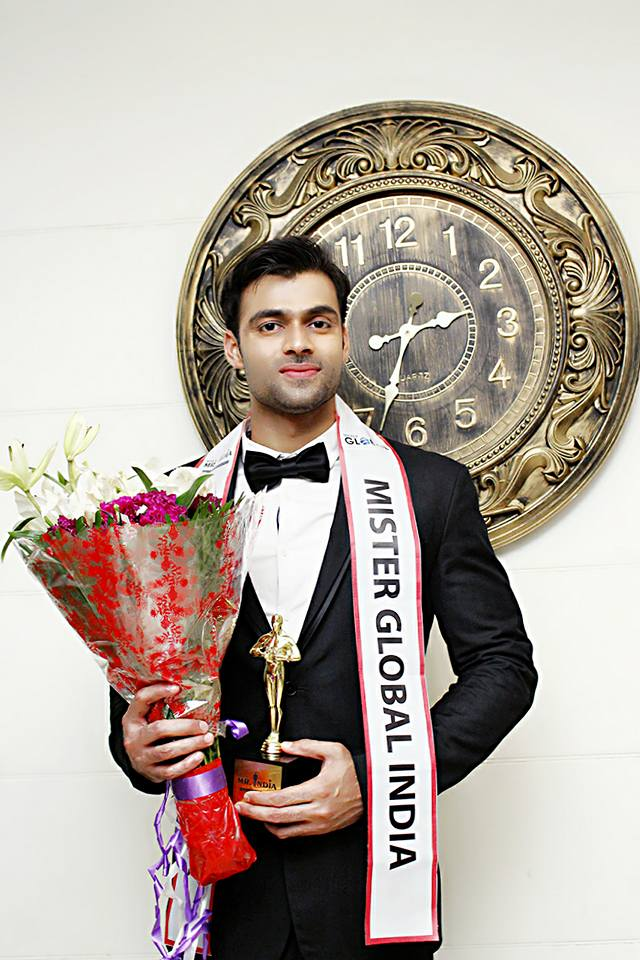 He will represent India at the annual Mister Global contest to take place on 20 May 2017 in Thailand. The Mister Global contest is one of the most prestigious and highly respected international competitions for men.