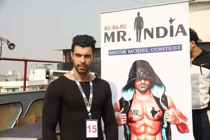 The moment it all began! Tabish Gular at the Rubaru Mister India 2017 auditions  in New Delhi.