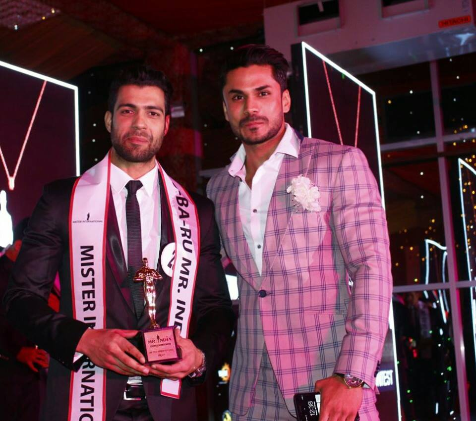 Tabish Gulzar, Rubaru Mister India International 2017 with Mudit Malhotra, Rubaru Mister India International 2016 at the grand final of Rubaru Mister India 2017 contest.