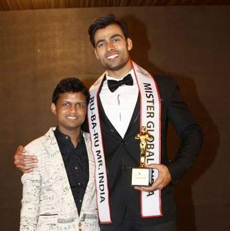 Sandeep Kumar with Rubaru Mr India 2017, Srikant Dwivedi.