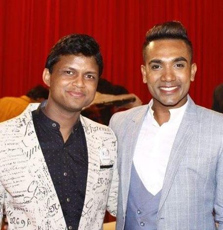 Sandeep Kumar with Mr Sri Lanka 2016, Shanith Fernando