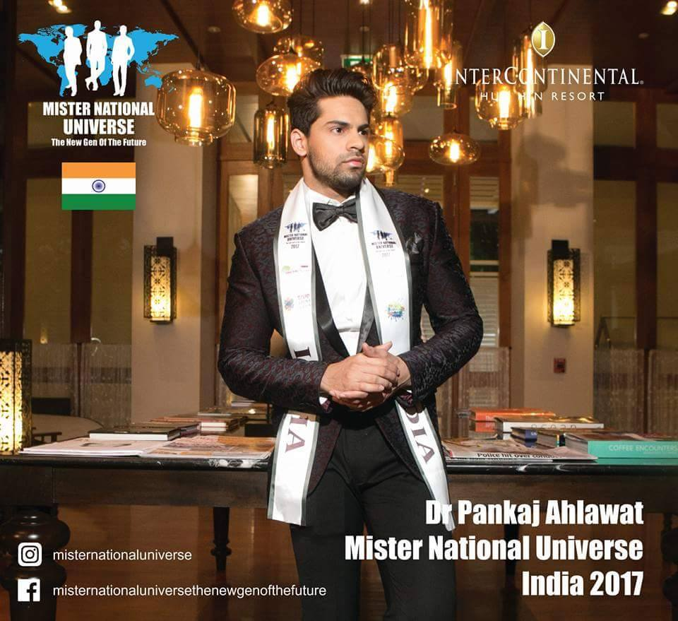 He is the first ever doctor to hold the title of Mr India and this is also for the first time in the history that a doctor has won an international pageant for men.