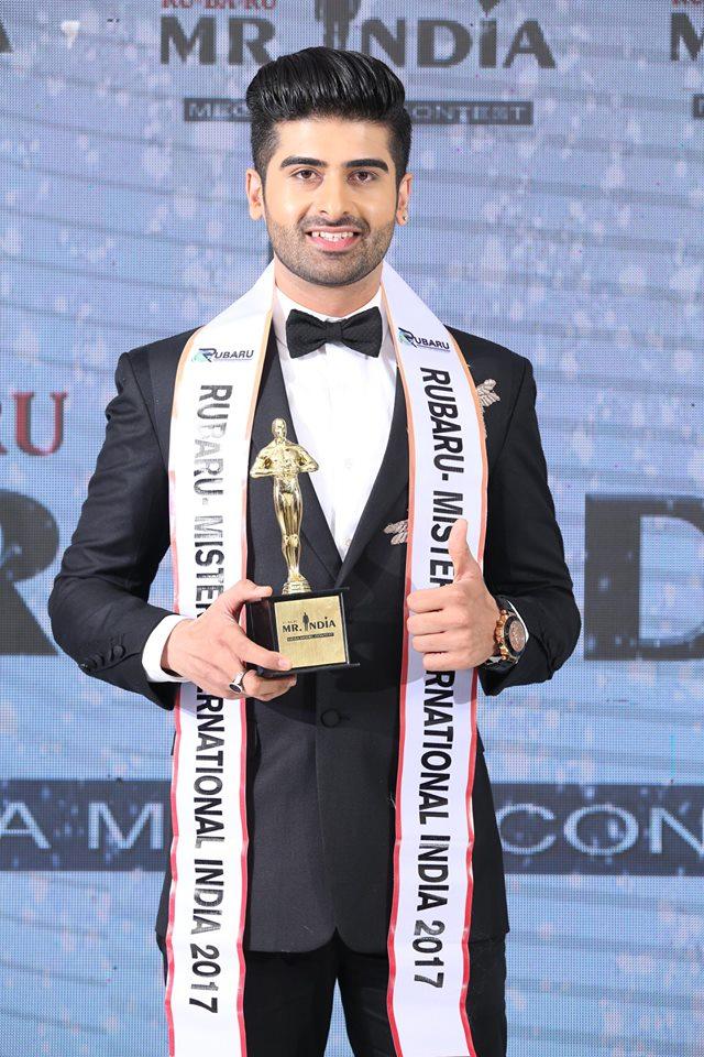Darasing Khurana's winning moment at Rubaru Mr India International 2017.