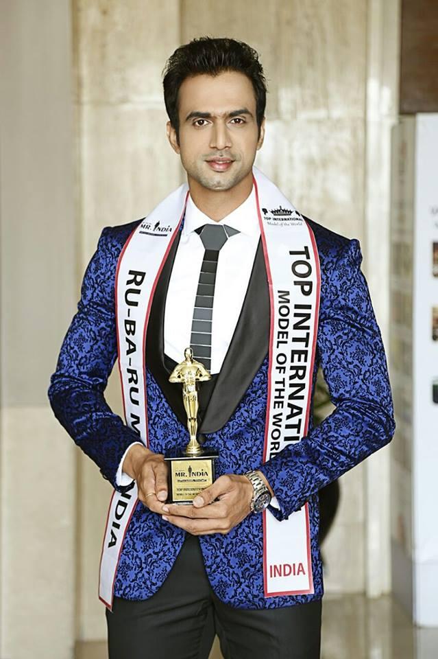 Rohit Choudhary, Rubaru Mr India - Top International Model 2017 and Top International Model of the World 2017 (2nd Runner Up).