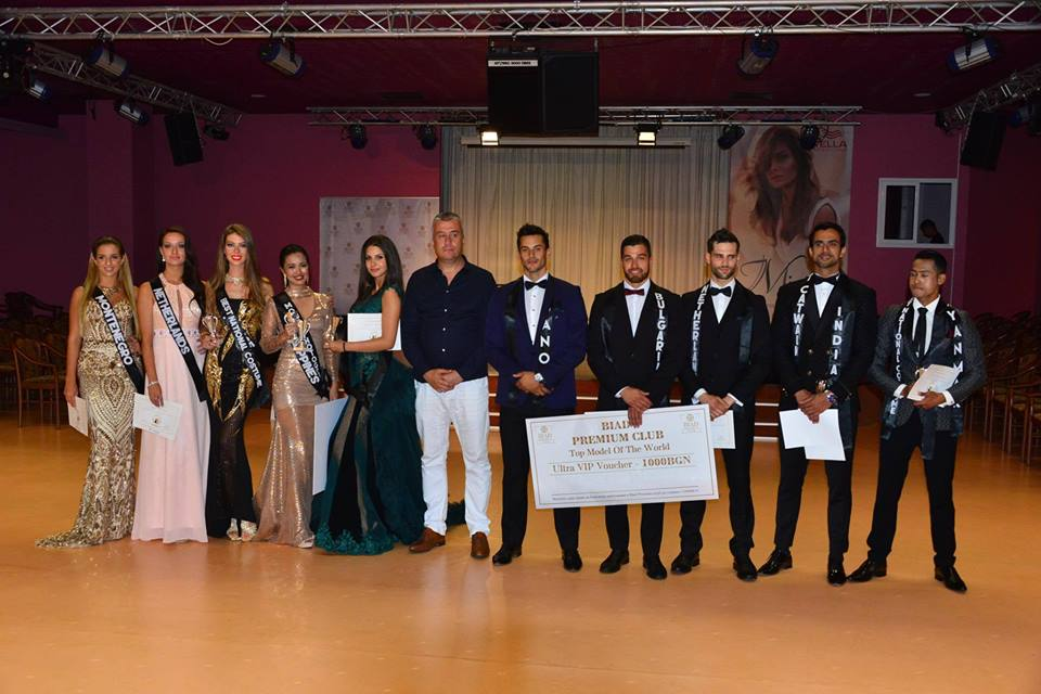 The Top 5 placer of Top International Model of the World 2017 with the director of the contest Mr Nasko Lazarov.