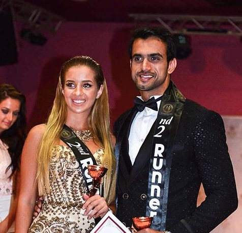 The 2nd runners up fo the competition. Miss Montenegro (Petra Miletic from the female group) & Mr. India (Rohit Choudhary from the male group)