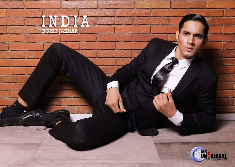 Rohit Jakhar's formal wear portrait shoot at Mister Universal Ambassador 2017.