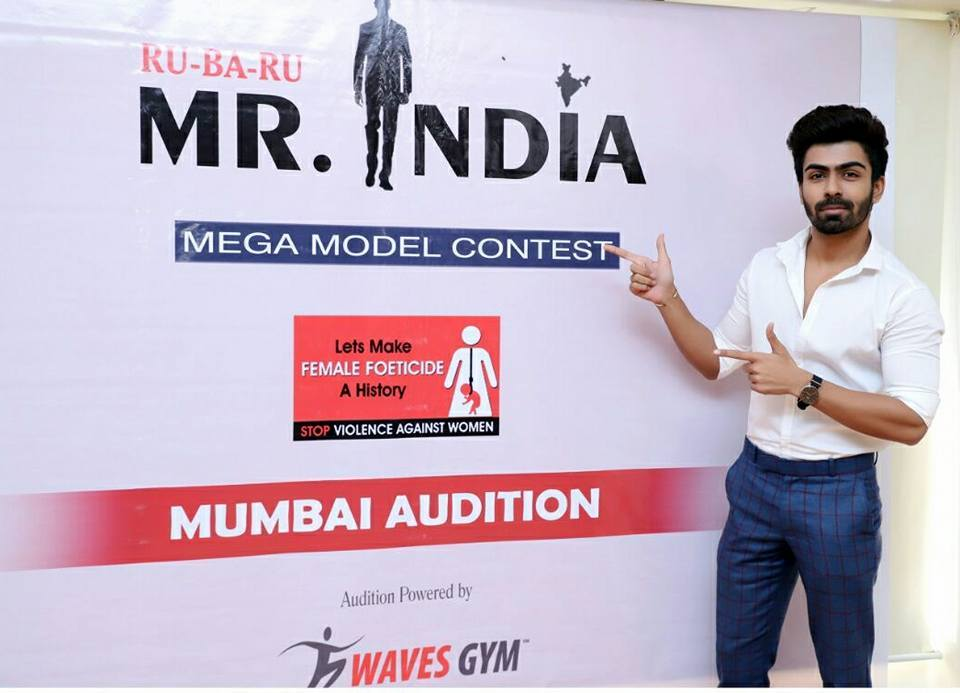 Reality TV star, Splitsvilla fame, actor, model and Rubaru Mr India 2016, Akash Choudhary at the Maharashtra auditions of 2018 edition of the pageant. Akash was one of the judges for the event.