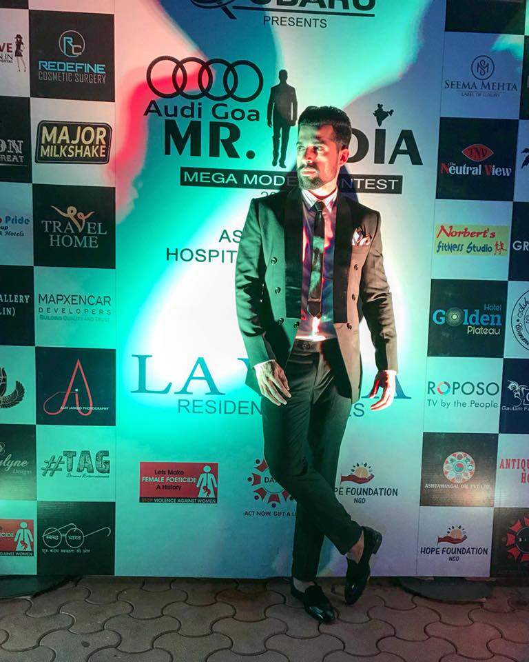 Farhan Qureshi during the Audi Goa Rubaru Mr India 2018 contest held in Goa.