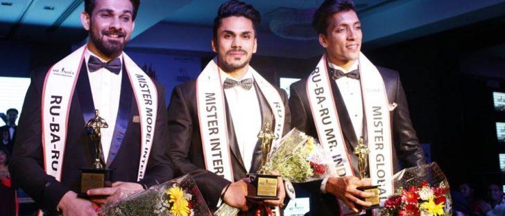 Rubaru Mister India 2016 titlholders. (From left to right) Anurag Fageriya, Mudit Malhotra and Prateek Baid.