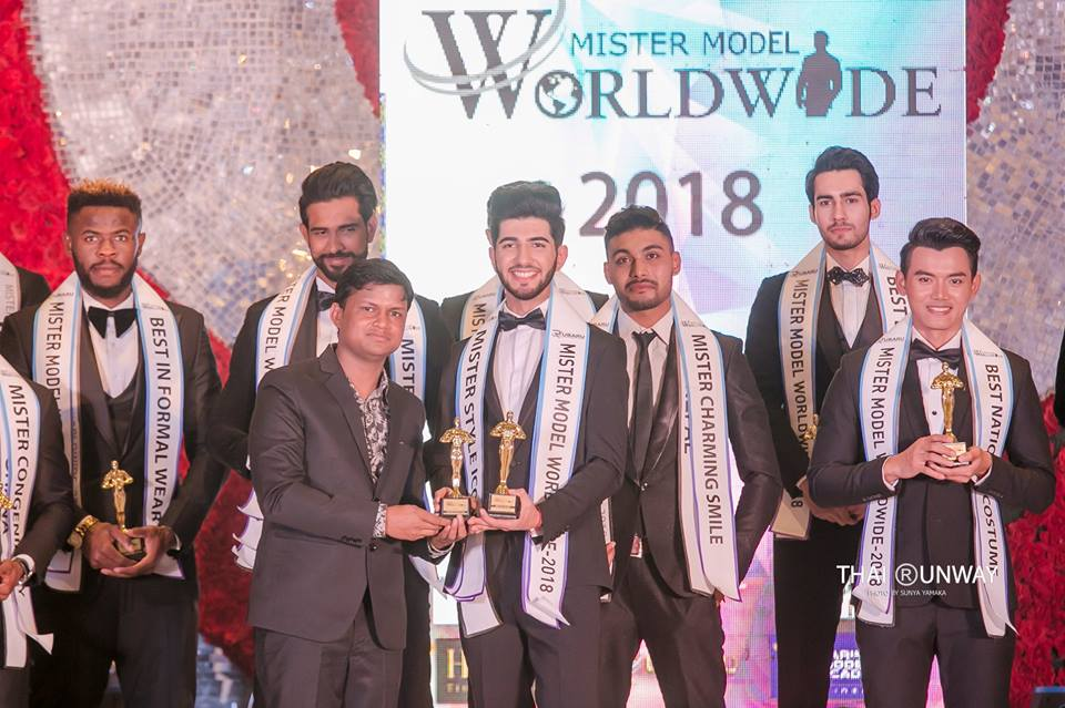 Mr ArmMr Armenia, Edik Karapetyan while receiving the Style Icon award at the Mister Model Worldwide 2018 competition.  Picture by Sunya Yamakaenia, Edik Karapetyan while receiving the Style Icon award at the Mister Model Worldwide 2018 competition.
