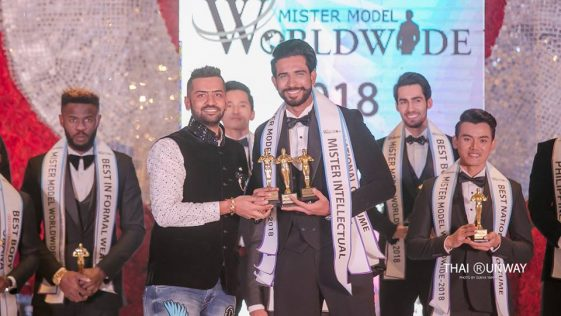 Mr Sri Lanka, Sajith Perera won three special awards at Mister Model Worldwide 2018 contest.