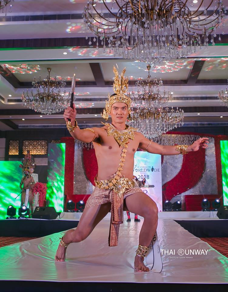 Mr Thailand, Yutthakon Buddeesee during the National Costume presentation show of Mister Model Worldwide 2018 contest.  Picture by Thai Runway / Sunya Yamaka.