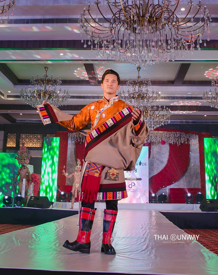 Tsering Chomphel during the national costume presentation of Mister Model Worldwide 2018 competition. Picture by Sunya Yamaka.