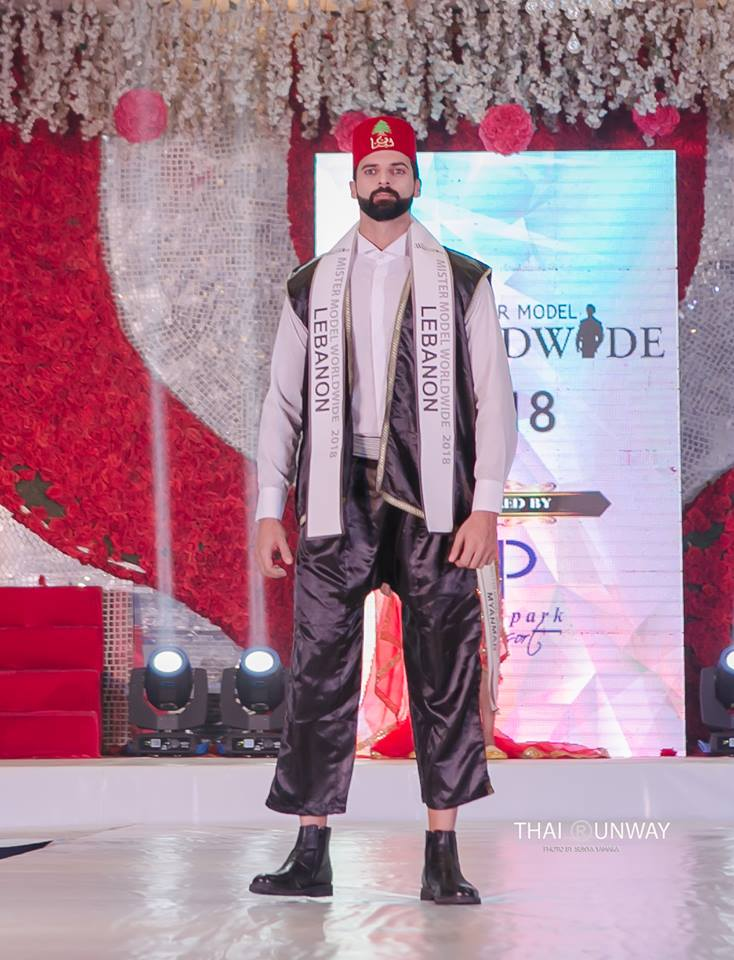 Mr Lebanon, Mhamad Chami while walking the national costume presentation show of Mister Model Worldwide 2018 contest. Picture by Thai Runway / Sunya Yamaka.