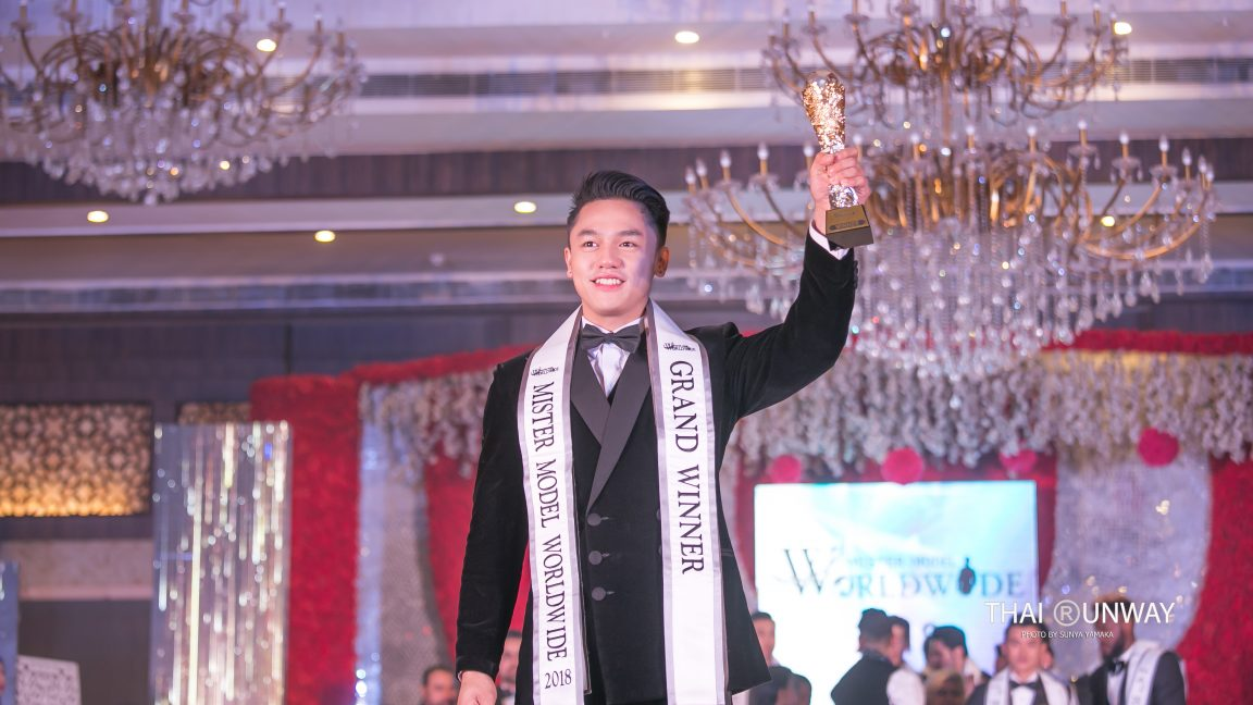 Mr Philippines, Carlo Pasion creates history by winning the inaugural edition of Mister Model Worldwide contest held in India. Picture courtesy: Thai Runway / Sunya Yamaka