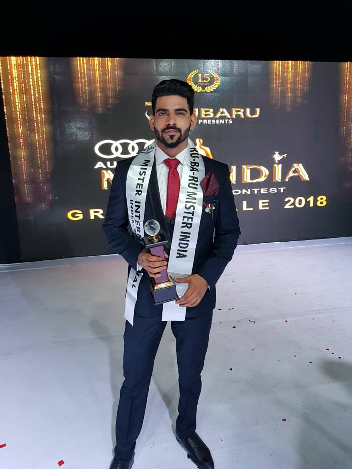 The current winner of Mister India title, Balaji Murugadoss, Mister India 2018 from Tamil Nadu.
