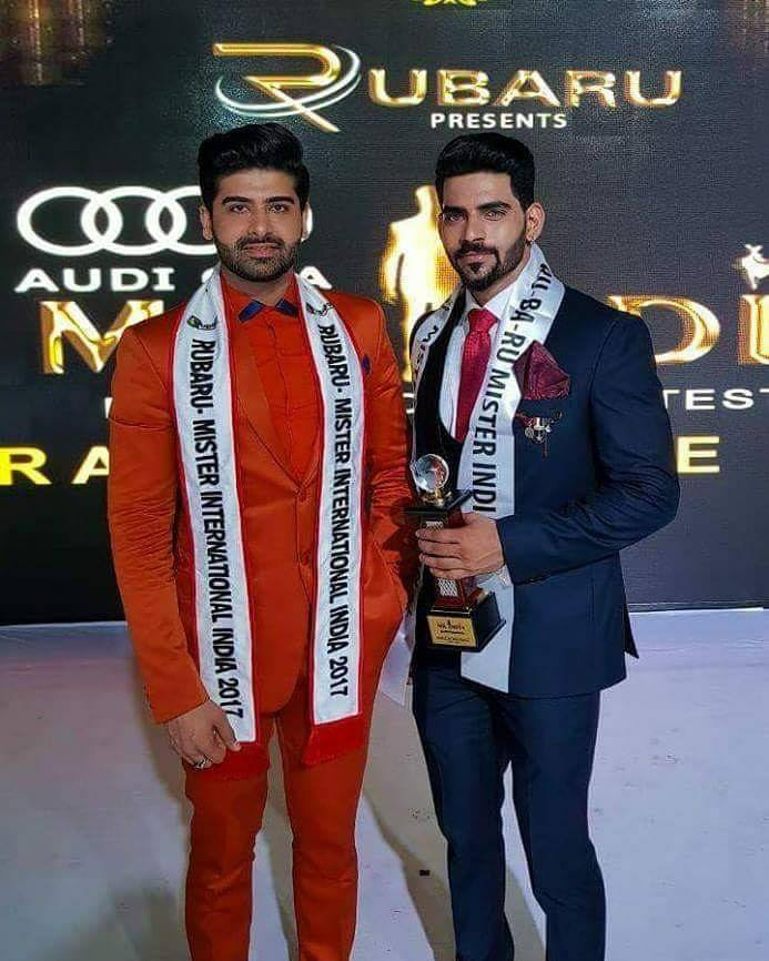 Mister India 2017, Darasing Khurana from Maharashtra with Mister India 2018, Balaji Murugadoss from Tamil Nadu.