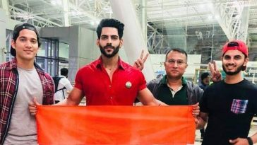 Mister India 2018, Balaji Murugadoss clicked before he left for the Philippines to represent India at Mister International pageant.