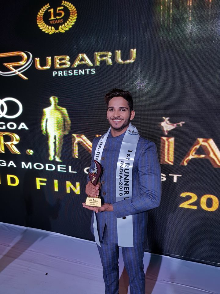 Dilip Patel's winning moment at Rubaru Mister India 2018 pageant.