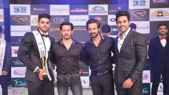 Pankaj Joon's winning moment at Rubaru Mr India 2019 pageant.
