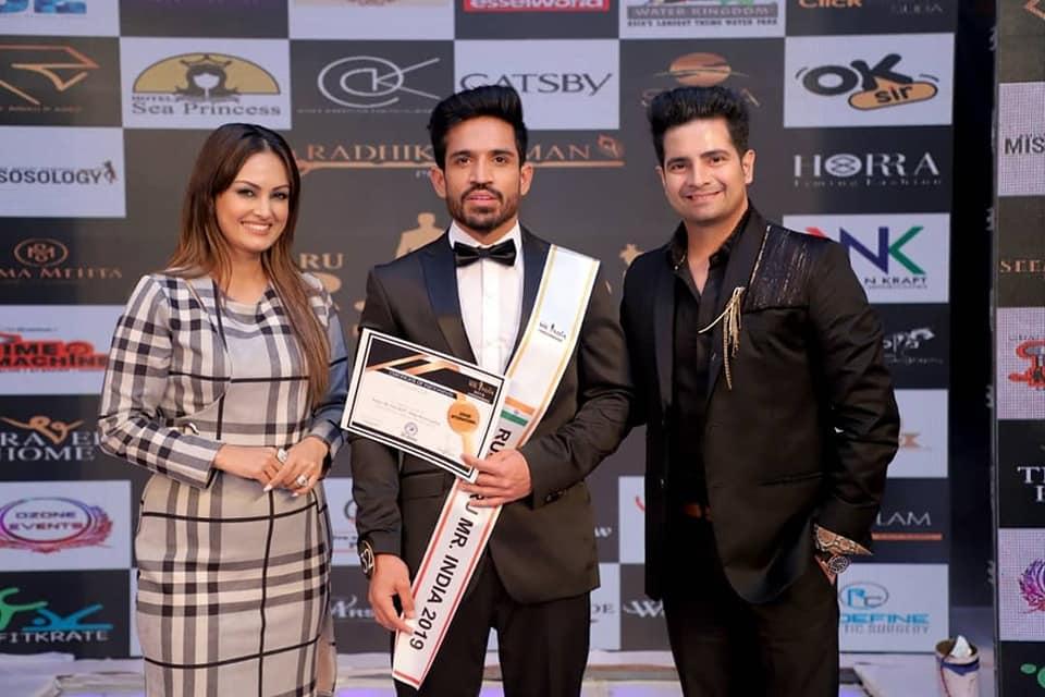 Jatin Taneja, Rubaru Mr India Grand International 2019.