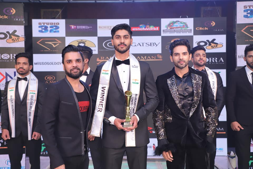 Amandeep Dahiya's winning moment at Rubaru Mr India 2019 pageant.