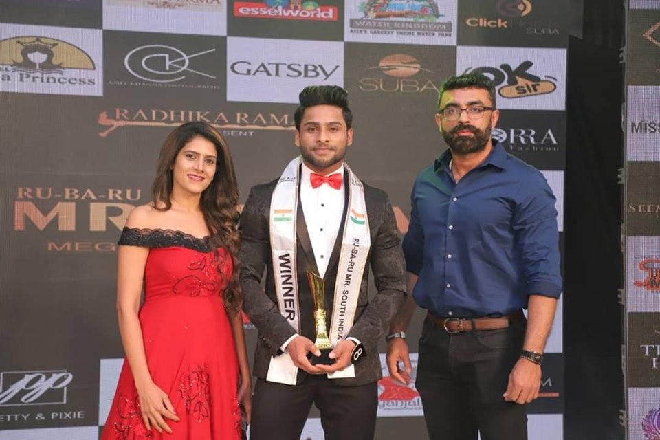 S. Bakhirathan, Rubaru Mr South India 2019 from Tamil Nadu.