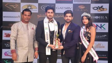 Shubham Chauhan, Rubaru Mr North India 2019 from New Delhi.