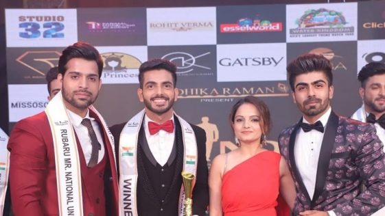 Sahil Arora's winning moment at Rubaru Mr India 2019 pageant.